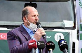 Bursa'dan Suriye'ye 14 tır yardım malzemesi...