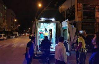 Bursa'da taksi ile çarpışan motosikletin sürücüsü...