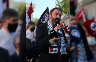 İsrail'in Mescid-i Aksa saldırıları Bursa'da protesto...