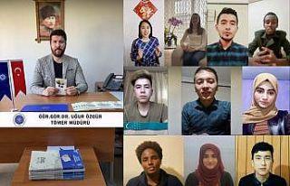 """Tekirdağ'da uluslararası öğrenciler """"Anneler..."""