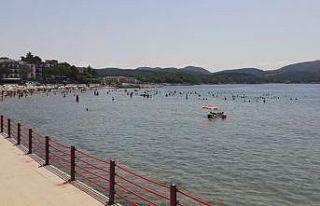 Kandıra'da deniz suyu sıcaklığı hava sıcaklığını...