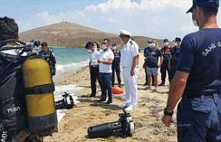 Bozcaada'da denizde kaybolan kişi için başlatılan...