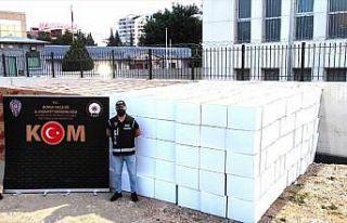Bursa'da 9 milyon 400 bin kaçak makaron ele...
