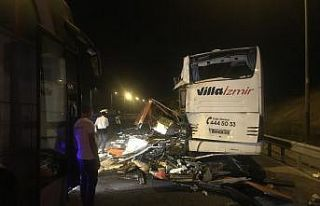 Kuzey Marmara Otoyolu'nda yolcu otobüsü ile...