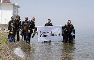 SOCAR Gönüllüleri'nden Marmara Denizi'nde müsilaj...
