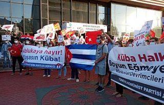 TKP ve Küba dostlarından ABD Büyükelçiliği önünde...