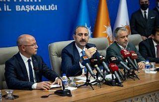 Adalet Bakanı Gül, AK Parti Bursa İl Başkanlığı'nda...