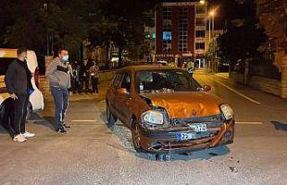 Edirne'de otomobille cipin çarpıştığı kazada...