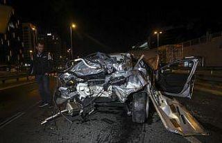 İstanbul'da meydana gelen trafik kazasında...