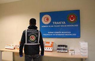 Kapıkule'de gümrük muhafaza ekipleri kaçakçılara...