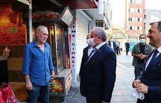 TBMM Başkanı Şentop Tekirdağ'da esnaf ziyareti...
