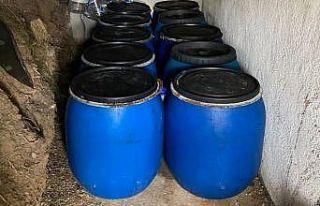 Çanakkale'de bağ evinde 3 bin 235 litre sahte...