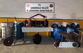 Çanakkale'de bağ evinde bin 355 litre sahte...