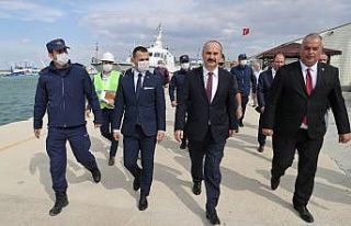 Edirne'de Enez Deniz Gümrük Kapısı liman...