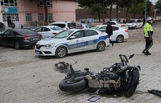 Edirne'de motosikletli polis memuru olay yerine...