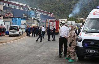 Bursa'da kimya fabrikasında meydana gelen patlamada...