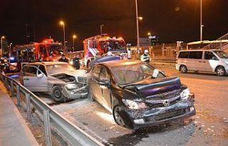 Kağıthane'de meydana gelen trafik kazasında...