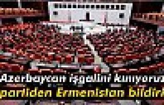 3 partiden Ermenistan bildirisi: 'Azerbaycan işgalini...