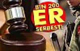 Ankara'da bin 200 er serbest!