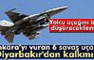 Ankara'yı vuran 6 savaş uçağı Diyarbakır'dan...