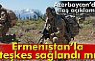 Azerbaycan ile Ermenistan arasında ateşkes sağlandı...