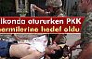 Balkonda otururken PKK mermilerine hedef oldu