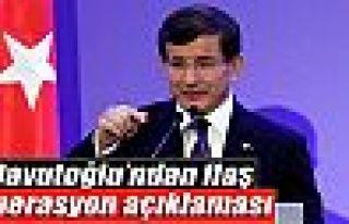 Başbakan Davutoğlu'ndan flaş operasyon açıklaması