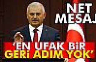 Başbakan Yıldırım terörle mücadelede kararlılık...