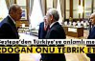 Beştepe'den Türkiye'ye anlamlı mesaj