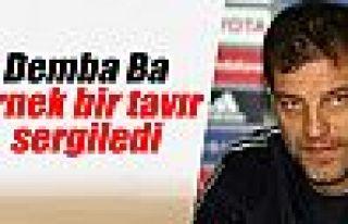 Bilic: 'Demba Ba örnek bir tavır sergiledi'