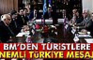 BM Dünya Turizm Örgütü'nden turistlere 'Türkiye'ye...