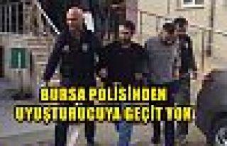Bursa Polisinden Uyuşturucuya Geçit Yok