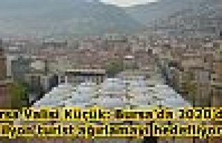 Bursa Valisi Küçük: Bursa'da 2020'de 5 milyon turist...
