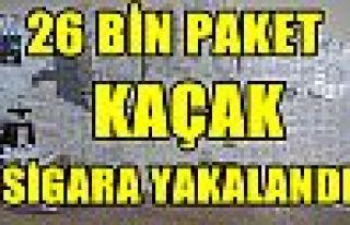 Bursa'da 26 bin paket kaçak sigara ele geçirildi...