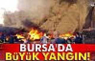 Bursa'da büyük yangın