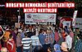 Bursa'da demokrasi şehitleri için mevlit okutuldu