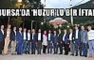 BURSA'DA 'HUZUR'LU BİR İFTAR