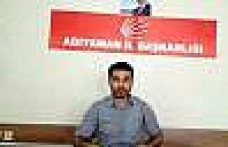 CHP Adıyaman Gençlik Kolları Başkanı İstifa...