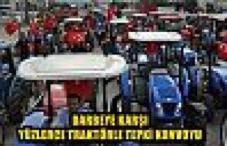 Darbeye karşı yüzlerce traktörle tepki konvoyu
