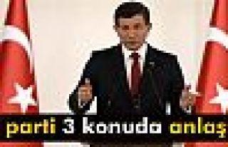 Davutoğlu: 'CHP ve MHP ile 3 konuda mutabık kaldık'
