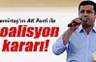 Demirtaş'ın AK Parti ile koalisyon kararı