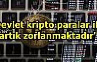 'Devlet kripto paralar ile artık zorlanmaktadır'