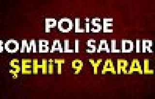 Diyarbakır'da polise saldırı: 1 şehit, 9 yaralı