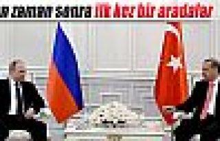 Erdoğan ile Putin uzun zaman sonra ilk kez bir arada