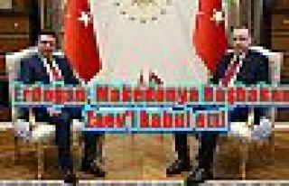 Erdoğan, Makedonya Başbakanı Zaev'i kabul etti