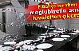 Fenerbahçe taraftarları koltuk ve tuvaletlere zarar...