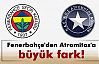 Fenerbahçe'den Atromitos'a büyük fark