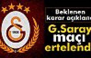 Galatasaray - Abdullah Gül Üniversitesi maçı ertelendi