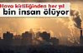 Hava kirliliğinden Türkiye'de her yıl 7 bin insan...