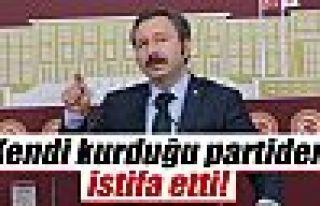 İdris Bal kendi kurduğu partiden istifa etti